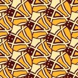 Африканские ткани от Ганы, Нигерии, Западной Африки Анкара иллюстрация штока