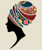Африканские фотомодели силуэта женщин Стоковые Изображения RF