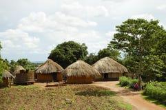 Африканские хаты - Замбия Стоковая Фотография RF