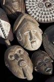 африканские carvings маскируют древесину Стоковая Фотография