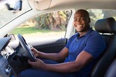 Африканский автомобиль человека Стоковые Фотографии RF