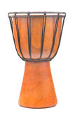 Африканский барабанчик djembe на белой предпосылке Стоковые Фото