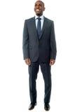 Африканский бизнесмен изолированный на белизне стоковое фото rf