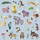африканский вектор иллюстрации шаржа животных иллюстрация вектора
