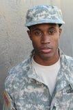 Африканский воинский мужчина с нейтральным выражением Стоковое Изображение
