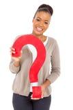 Африканский вопрос о девушки Стоковое Изображение RF