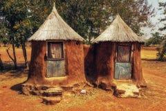 Африканский гальюн деревни стоковое изображение
