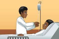 Африканский доктор С терпеливая иллюстрация стоковые фото