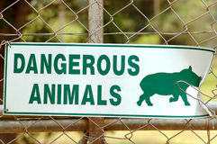 африканский животный знак Стоковое фото RF