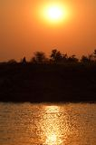 Африканский заход солнца в matusadona Стоковые Фото