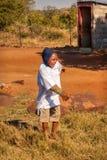 Африканский играть ребенка стоковое изображение rf