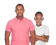 Африканский изолированные отец и сын стоковое фото rf