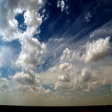 африканский квадрат неба формы Стоковое Фото