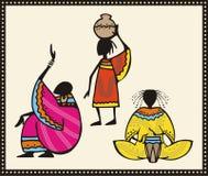 африканский комплект людей иллюстраций иллюстрация вектора