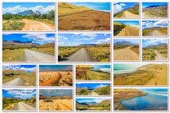 Африканский коллаж дороги пустыни Стоковая Фотография RF