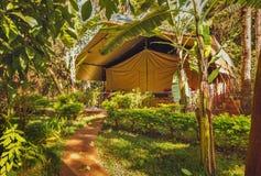 Африканский лагерь в Найроби - Кении стоковые фотографии rf
