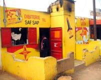 Африканский магазин мясника Стоковые Изображения