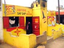 африканский магазин butcher стоковые изображения