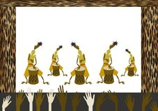 африканский мюзикл Стоковые Изображения