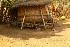 Африканский дом соломы Стоковое фото RF