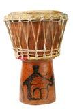 африканский оригинал барабанчика djembe Стоковое Изображение