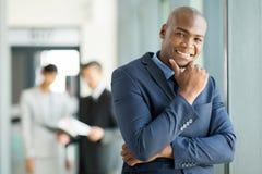 Африканский офис бизнесмена Стоковые Фото