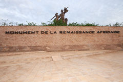 Африканский памятник ренессанса, Дакар, Сенегал стоковое фото rf