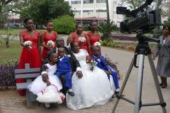 Африканский портрет свадьбы в Мапуту Мозамбик Стоковое Изображение RF