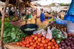 Африканский продовольственный рынок Стоковые Фотографии RF