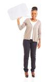 Африканский пузырь речи женщины Стоковые Фотографии RF