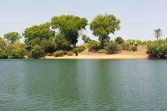 Африканский пляж реки Стоковые Фото
