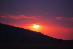 Африканский рассвет в Танзании Стоковые Фото