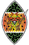 Африканский ратник Стоковые Фотографии RF