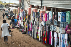 Африканский рынок в Punta делает Ouro, Мозамбик Стоковая Фотография