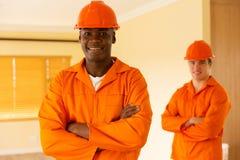 африканский сотрудник рабочего класса Стоковые Фото