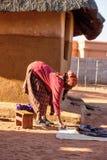 Африканский старший портрет Стоковая Фотография