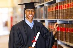 Африканский студент-выпускник университета Стоковое фото RF
