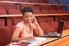 Африканский студент колледжа стоковое изображение rf