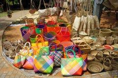 Африканский традиционный рынок сувенира стоковые изображения rf