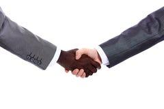 африканский трястить руки s бизнесмена Стоковое Изображение