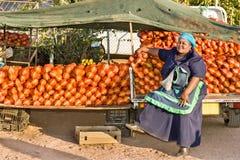 Африканский уличный торговец Стоковая Фотография