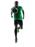 Африканский футболист человека   идущий силуэт Стоковое фото RF