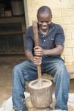 Африканский человек hackles пшено стоковая фотография