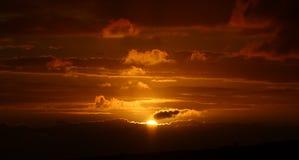 африканский южный заход солнца Стоковые Фотографии RF