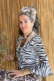 Африканским женщина одетая креолом зрелая Стоковое Фото