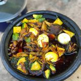 Африканское блюдо стоковое фото rf