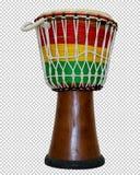 Африканское деревянное djembe барабанчика, PNG стоковые фото