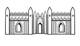 африканское зодчество Мечеть от глины бесплатная иллюстрация