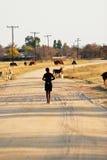 африканское село Стоковая Фотография