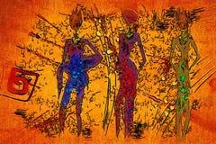 Африканское этническое ретро винтажное искусство Стоковые Фото